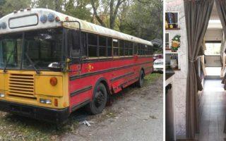 Μια παρέα αγόρασε ένα παλιό σχολικό λεωφορείο. Έτσι όπως μετέτρεψαν το εσωτερικού του είναι πραγματικά αξιοζήλευτο!
