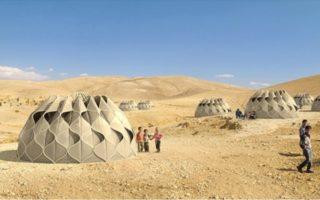Σκηνή για πρόσφυγες που συλλέγει νερό και ηλιακή ενέργεια