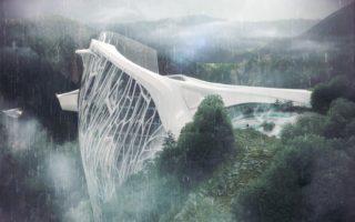 Αρχιτέκτονας σχεδίασε ένα εντυπωσιακό ξενοδοχείο για την περιοχή των Άλπεων. WoW!