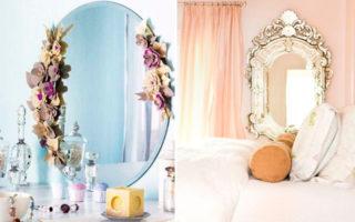 5 τρόποι να διακοσμήσετε έναν γυμνό καθρέφτη
