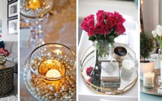 Διακοσμητικά αντικείμενα που μπορείτε να χρησιμοποιήσετε σαν décor για το τραπεζάκι του σαλονιού σας.
