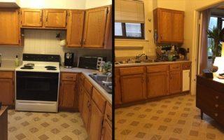 Μεταμόρφωσε αυτή την παλιά μονότονη κουζίνα στην κουζίνα των ονείρων της μόνο με 100 δολάρια!